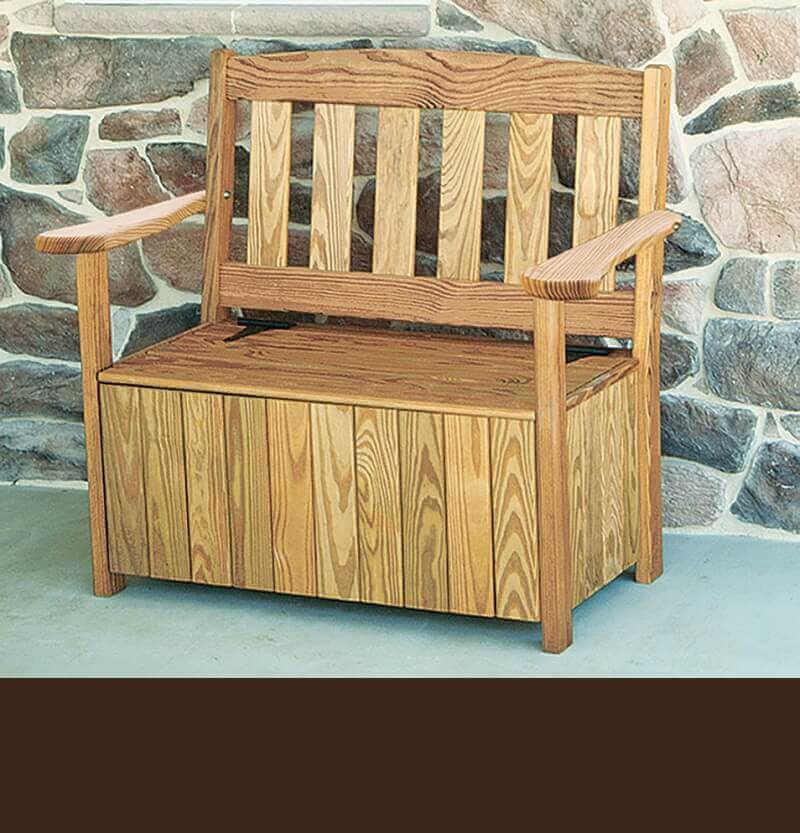 Gazebo Depot 3 Ft English Garden Bench With Storage Garden Benches 401 3sb