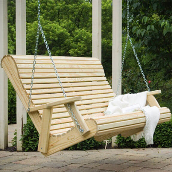 4 ft rollback porch swing zoom