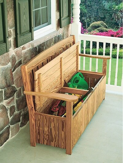 5 ft English Garden Bench with Storage