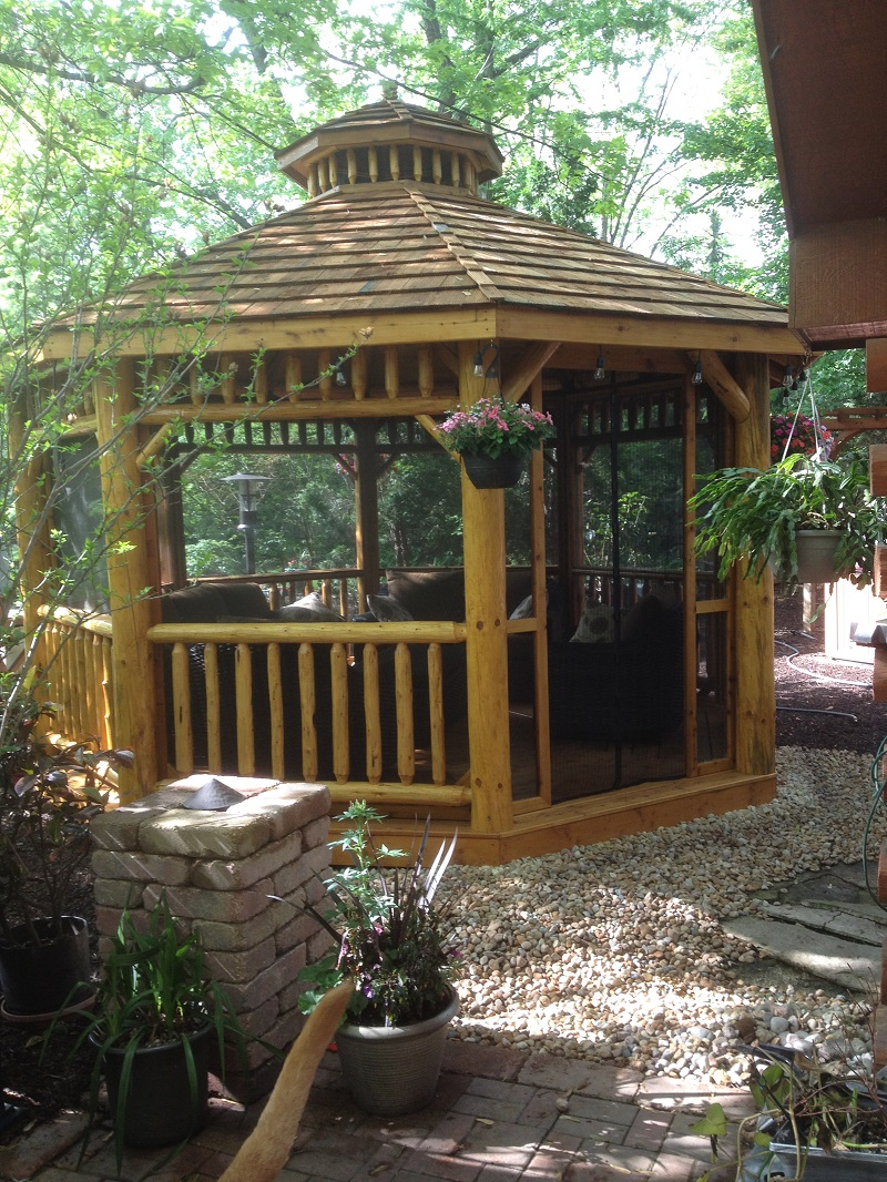 Log Octagon Gazebo Kit Log Gazebos