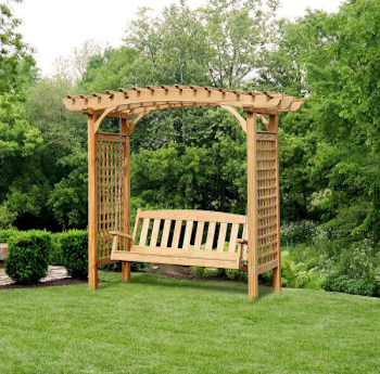 Gazebo Depot Brandywine Arbor With Swing Porch Swings