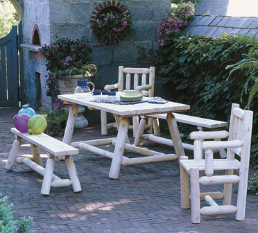 Classic Farmers Table & Bench Set