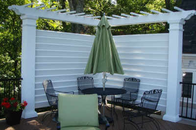 Fiberglass Corner Privacy Screen