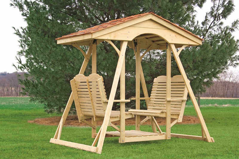 Garden pergolas and arbors free japanese puzzle box plans for Log swing plans