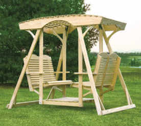 Double Lawn Glider Lattice Top Traditional