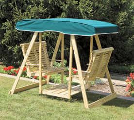 Double Lawn Swing Canvas Top