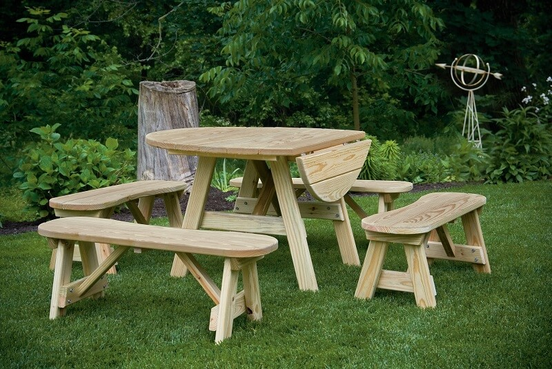 Gazebo Depot Drop Leaf Table Picnic Tables Dropleaftable
