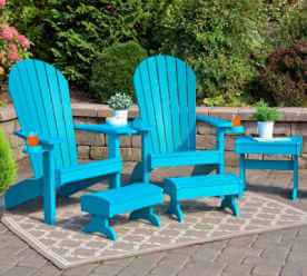 EZ Poly Adirondack Set