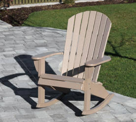 Fan Back Adirondack Rocker Country
