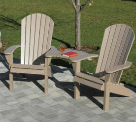Fanback Adirondack Clip On Table Settee Set