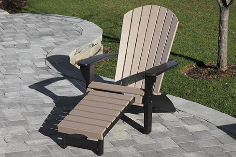 Fanback Adirondack Chair Built In Ottoman Country Zoom
