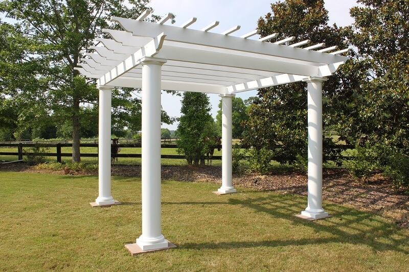 Fiberglass pergola round columns pergolas gazebo depot for Round columns