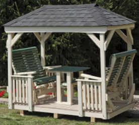Gazebo Glider Hip Roof Vinyl