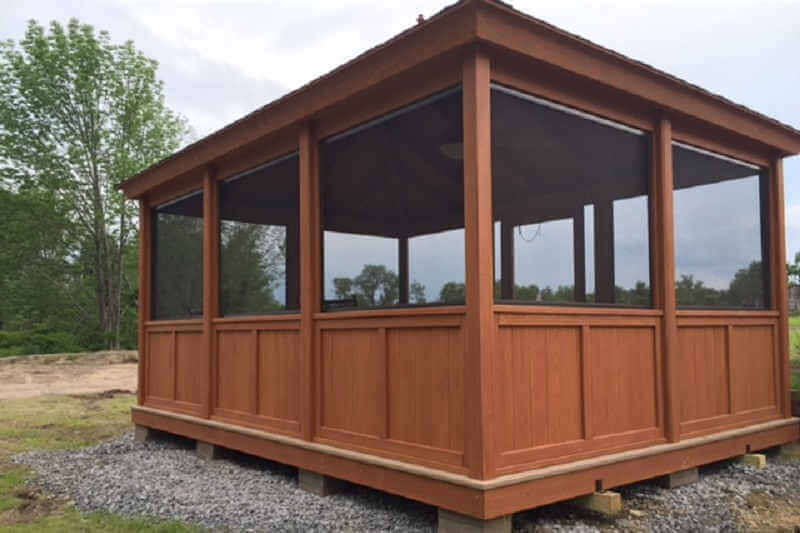 Gazebo screen room enclosure rectangle gazebo screen room for Screen room plans