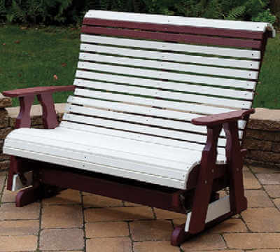 Gazebo Depot Glider Bench Poly Vinyl Furniture Gliderbench