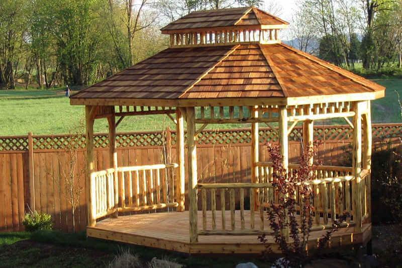 Log Oval Gazebo Log Gazebos Gazebo Depot