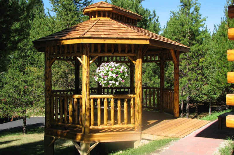 Log Oval Gazebo Log Gazebos Gazebo Depot