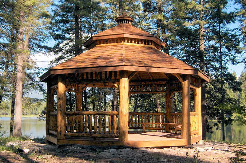 Log Octagon Gazebo Kit Log Gazebos Gazebo Depot