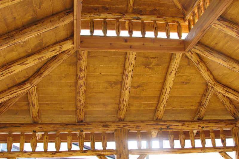 Gazebo Depot Log Oval Gazebo Log Gazebos Ovalgaz1