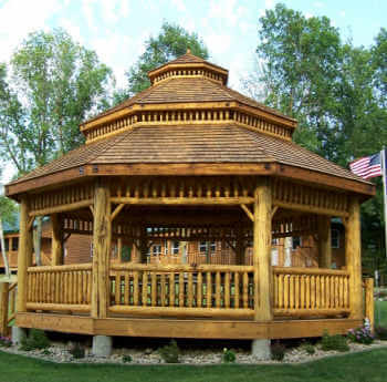 Log Octagon Gazebo Kit