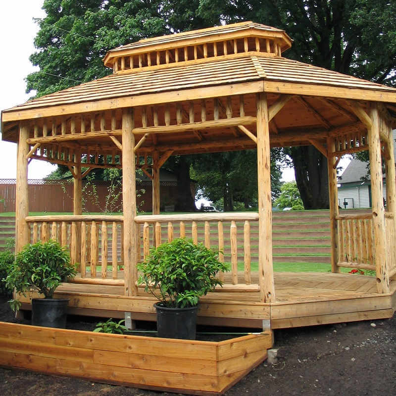 Oval gazebo plans images galleries for Rustic gazebo kits