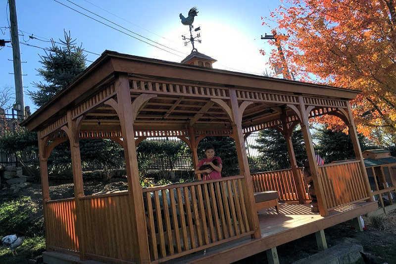 Rectangle Pine And Cedar Gazebos Gazebo Depot