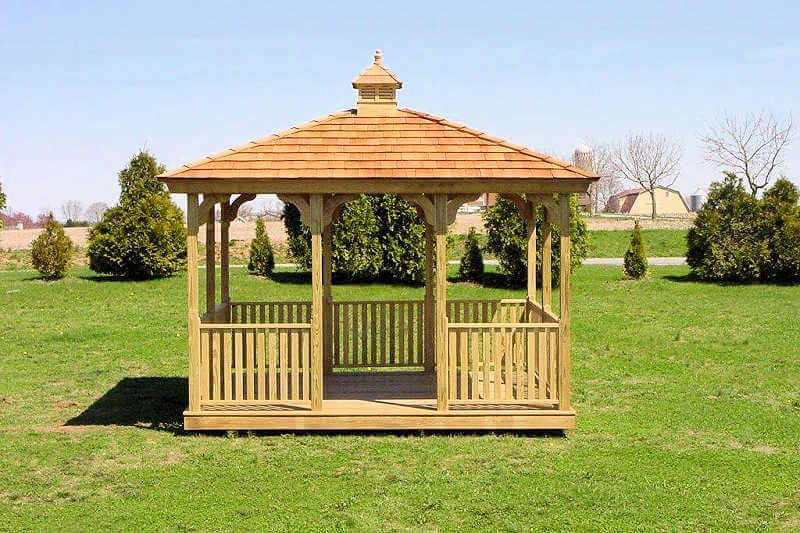 Gazebo Depot Rectangle Pine And Cedar Gazebos 09 Rect