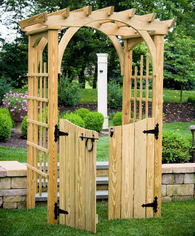 Roman arbor 4 ft arbors gazebo depot for Fence with arbor
