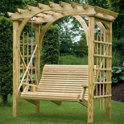 Gazebo Depot Roman Arbor Swing Porch Swings Lar36k