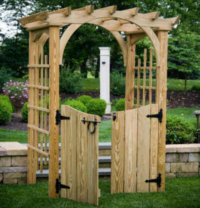 Solid Gate W Hardware Arbors Gazebo Depot