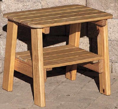 Two Tier End Table Wood
