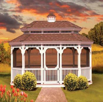 Gazebo Depot   Vinyl Oval Pagoda, Vinyl Gazebos, #14_OvalPag