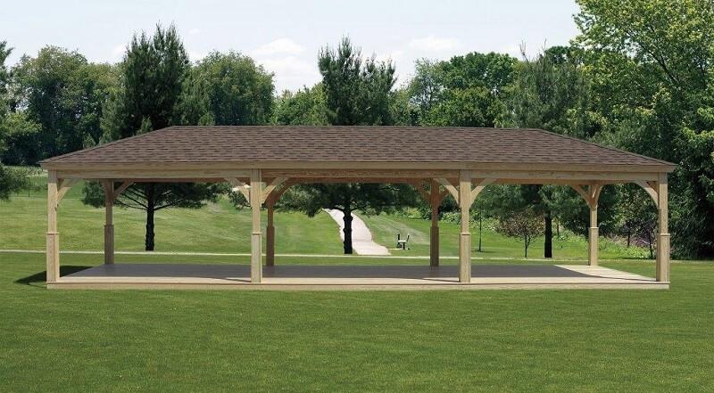 Wood Pavilion Wood Pavilion Gazebo Depot
