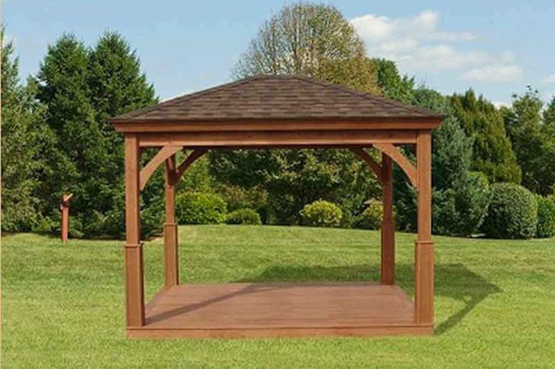 Wood pavilion wood pavilion gazebo depot for Pavilion blueprints