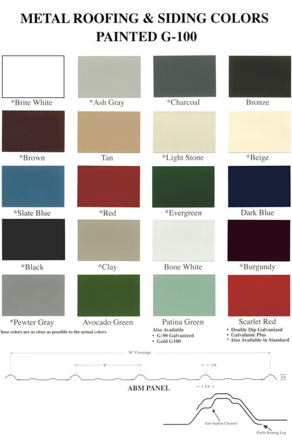 Gazebo Metal Roof Colors
