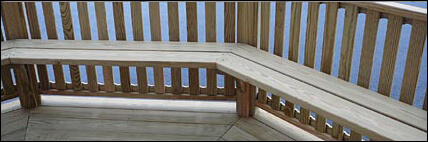 Stupendous Gazebo Bench Options Gazebo Depot Ibusinesslaw Wood Chair Design Ideas Ibusinesslaworg
