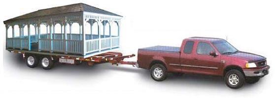 Gazebo Flat Bed Delivery