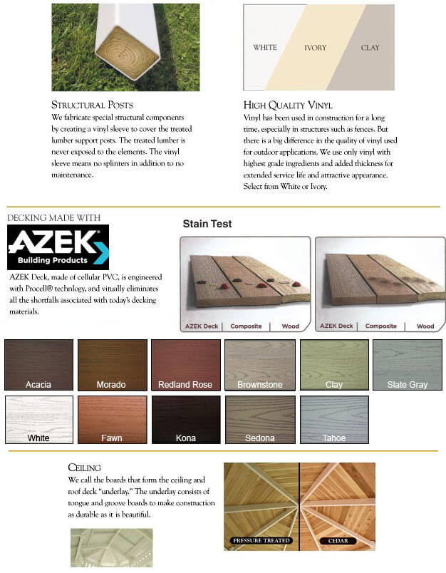 vinyl gazebo floor plan