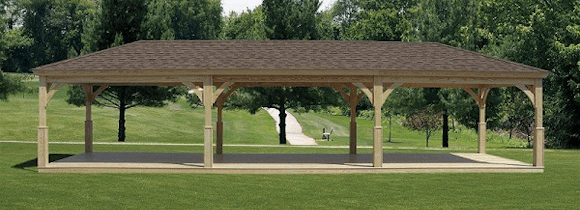 Large Wood Pavilion